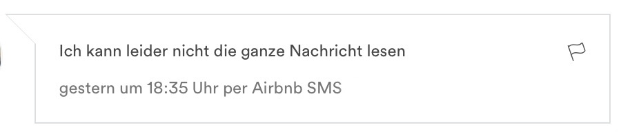 Airbnb SMS