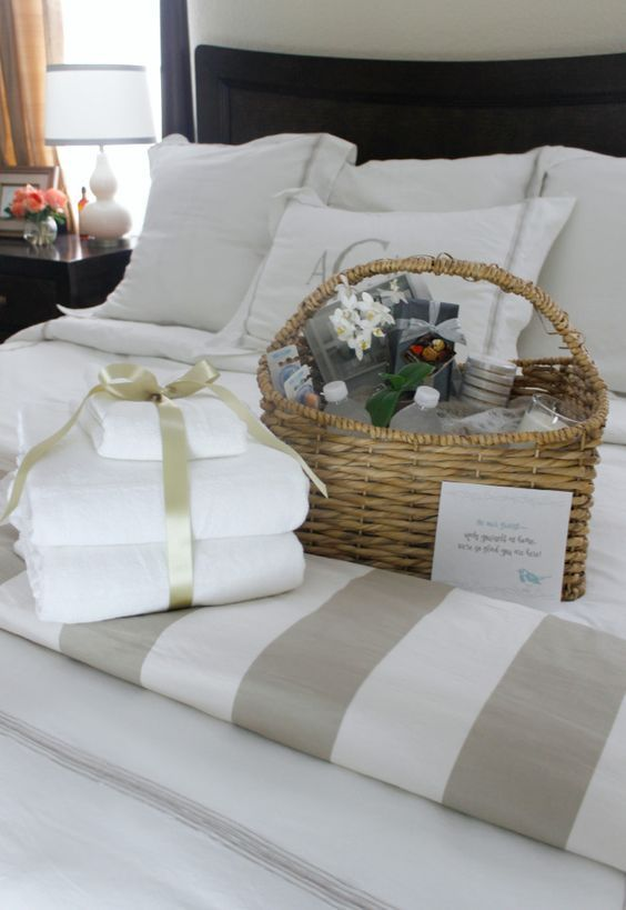 Welcome guest basket ideas