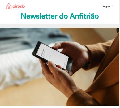 Newsletter do Anfitrião - Agosto 2017