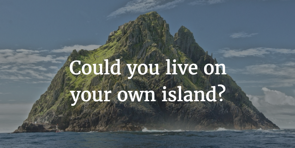 Could you live and host on a deserted island?