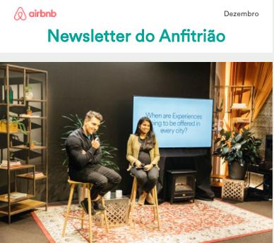 Newsletter do Anfitrião - Dezembro 2017