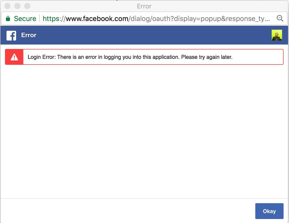 In facebook log