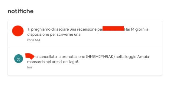ATTENZIONE: Guest può scrivere recensione anche se cancella prenotazione