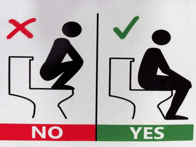 Squatting On Toilet Seat This Is A Bit