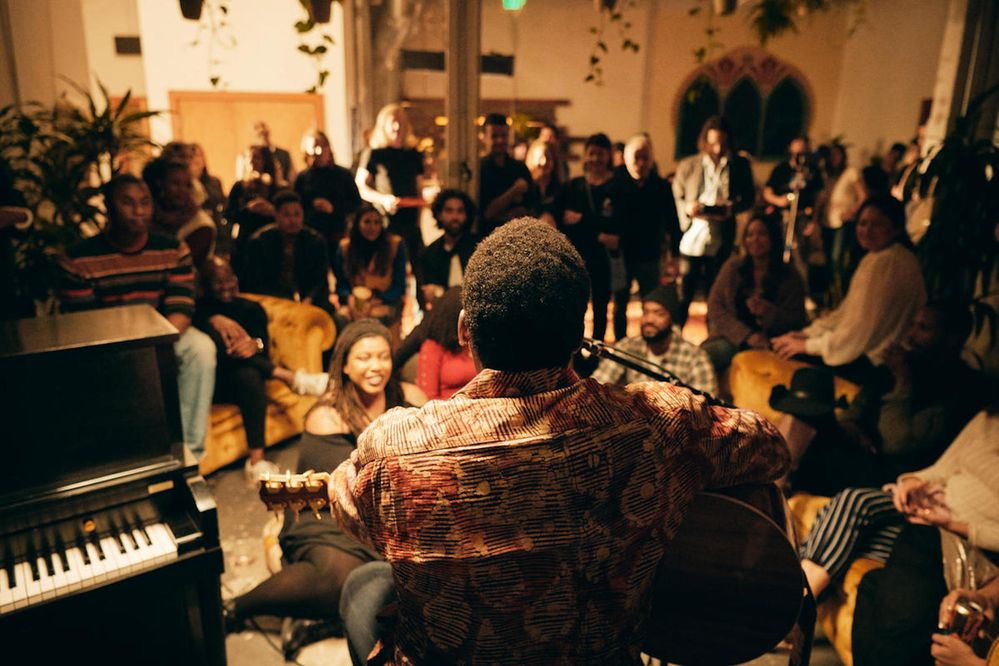 Hosting live music performances in your home