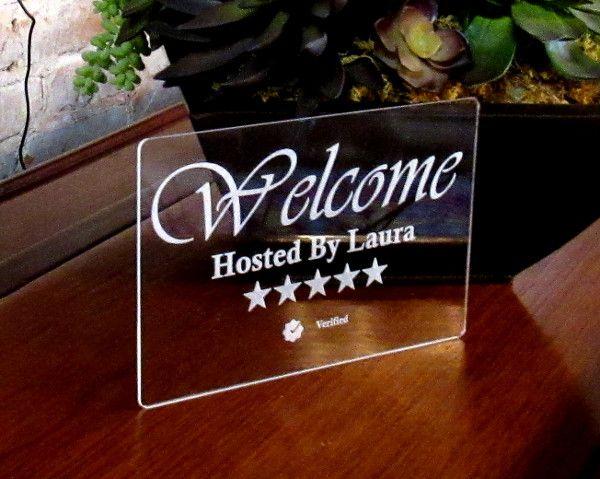 Custom Host Welcome Sign For Hosts & Superhosts
