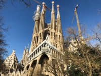 A picture I took of the Sagrada Familia in 2018