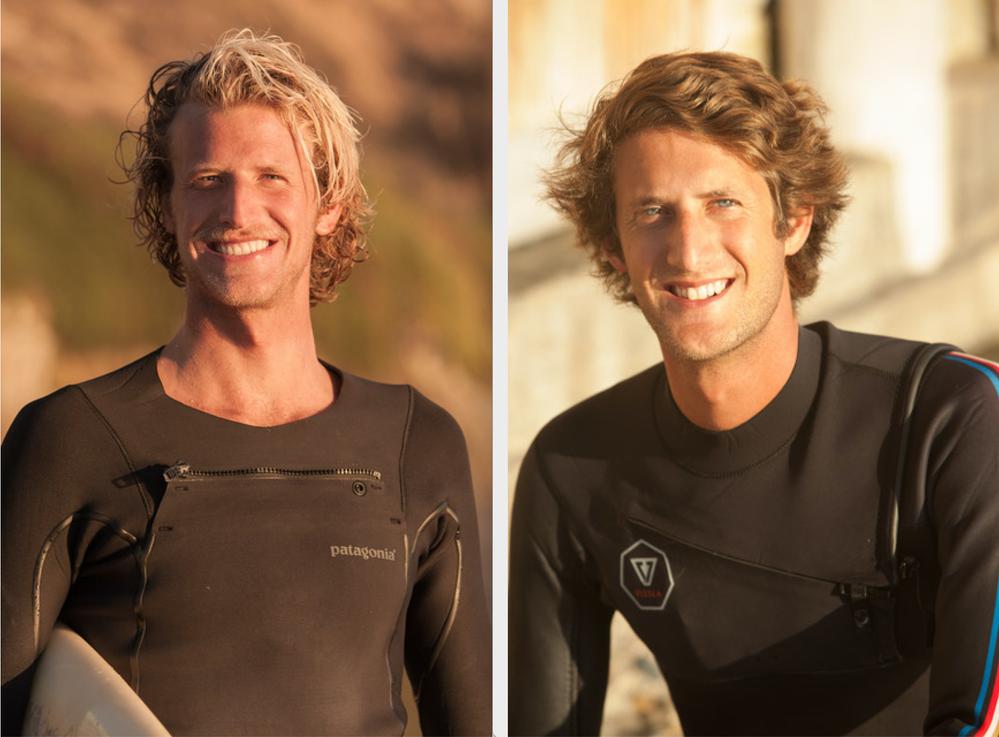スーパーホストでサーファーのNikkiさん(左)とSanderさん(右)兄弟。写真撮影:Surfhouse