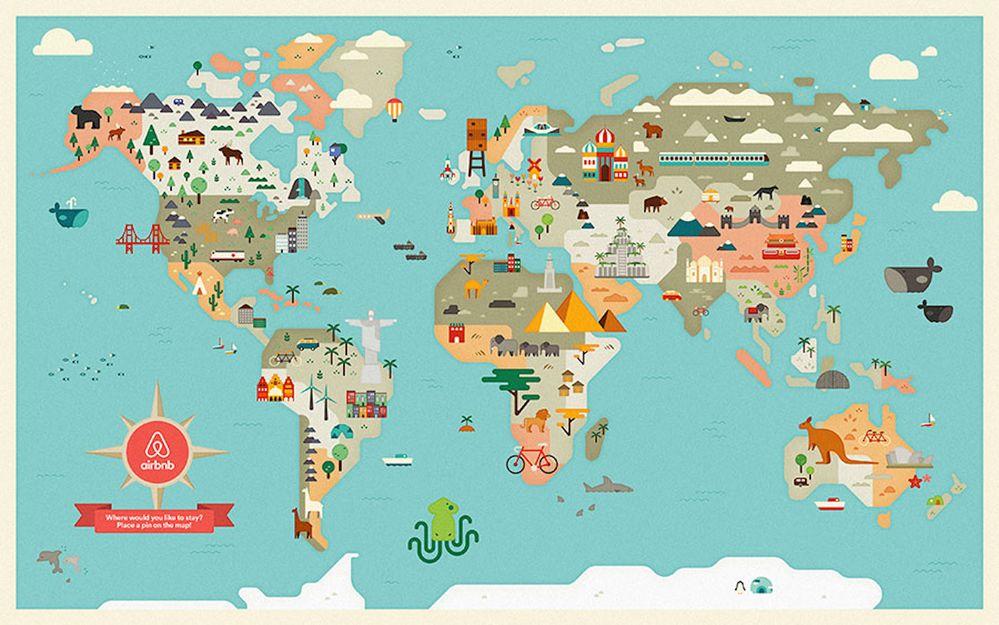 Tour du monde de la communauté d'hôtes d'Airbnb