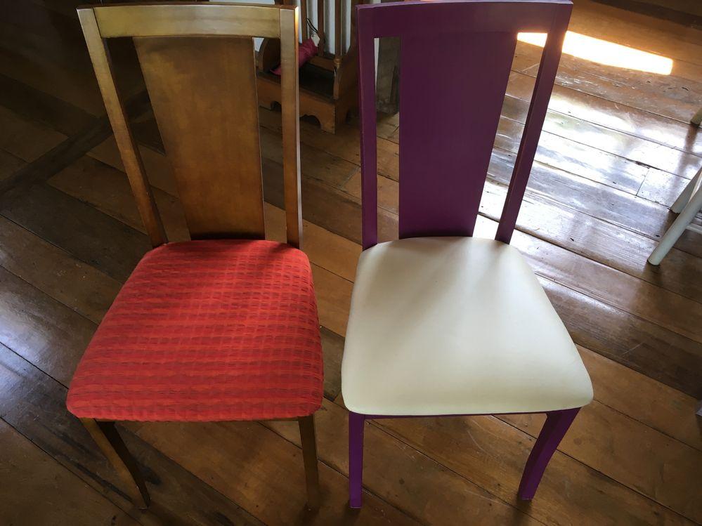 cadeiras reformadas por nós