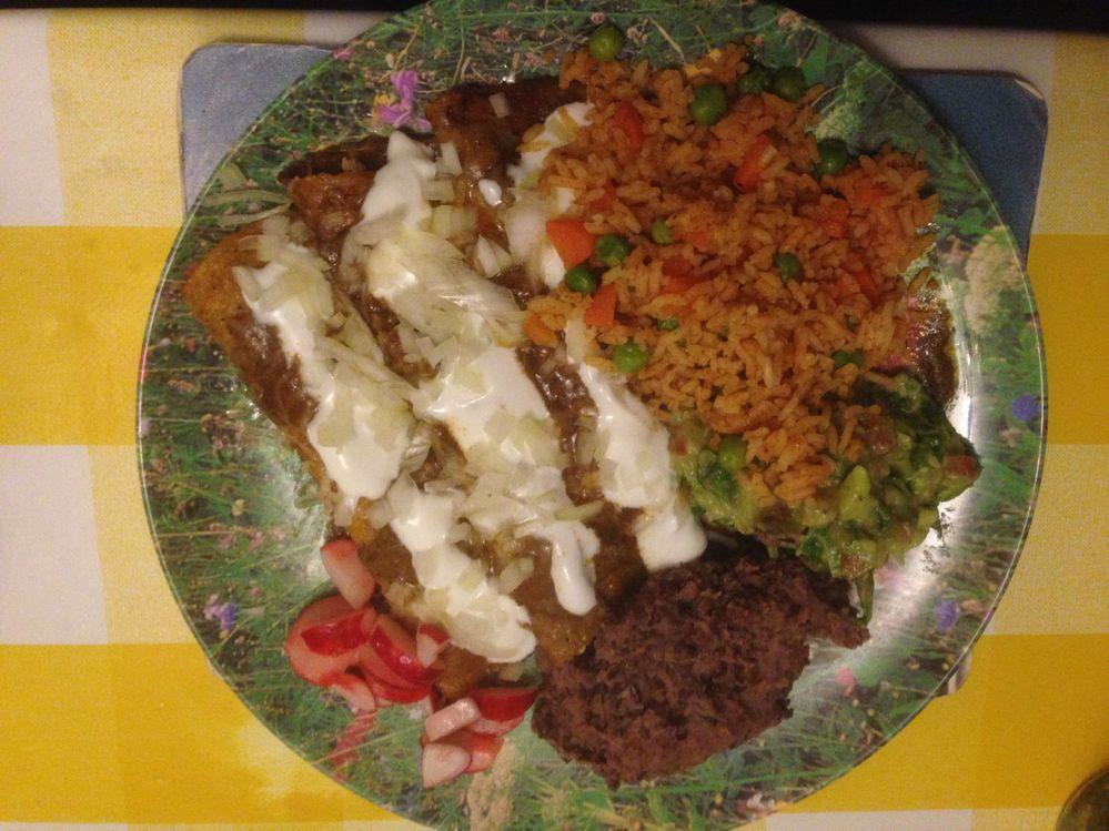 Enchiladas Mexicanas with Mole Almendrado Especial