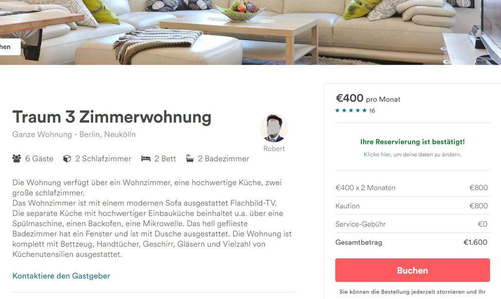 400 € für eine Traumwohnung!