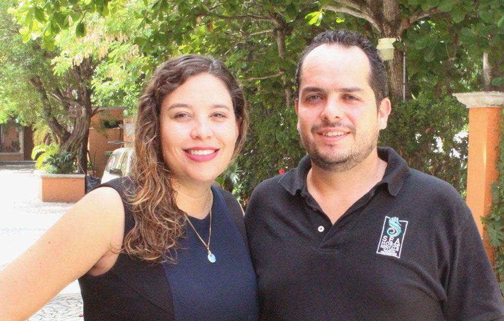 Mariana e Diego, gerentes de propriedades da Seahorse Rentals