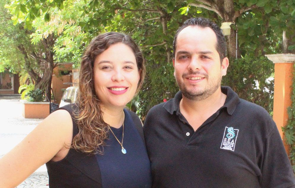 Mariana et Diego, gestionnaires immobiliers de Seahorse Rentals