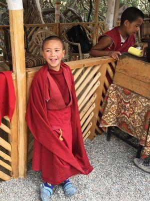 pequeno monje em Likir