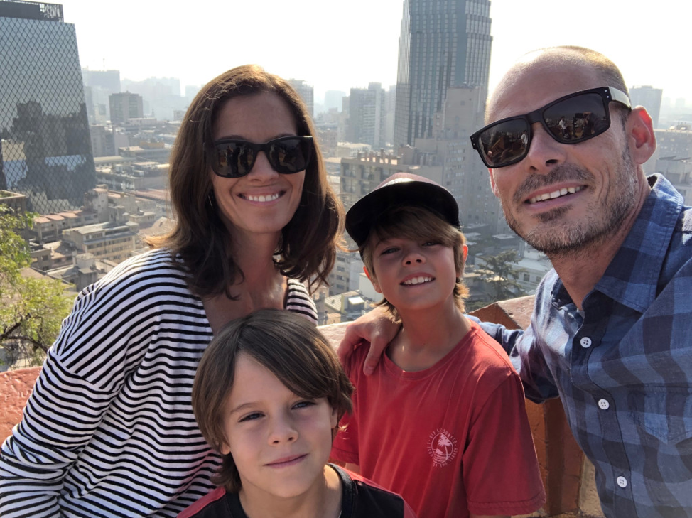 The Popp family exploring in Santiago, Chile.