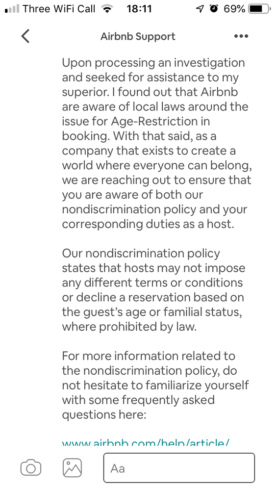 """More or less insinuating that not accepting children is """"discriminatory"""" and """"ageist""""."""