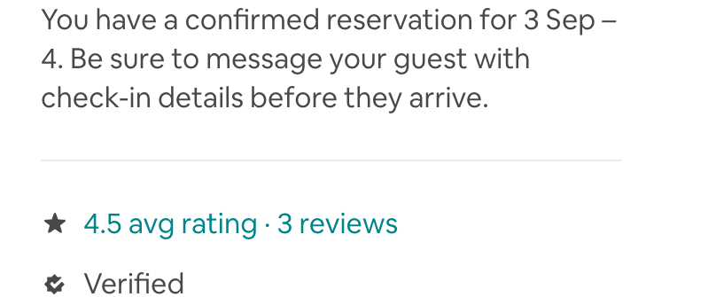 Guest's Average Star Rating does not match Actual
