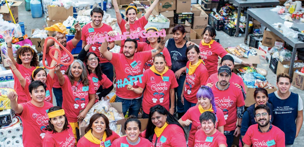 Voluntariado durante este mês: Week for Good 2019