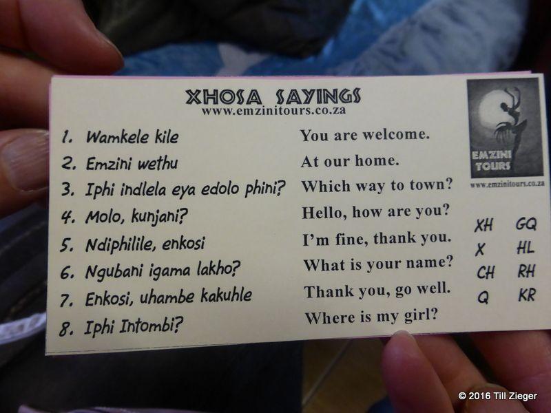 """Die Klicksprache """"Xhosa"""""""