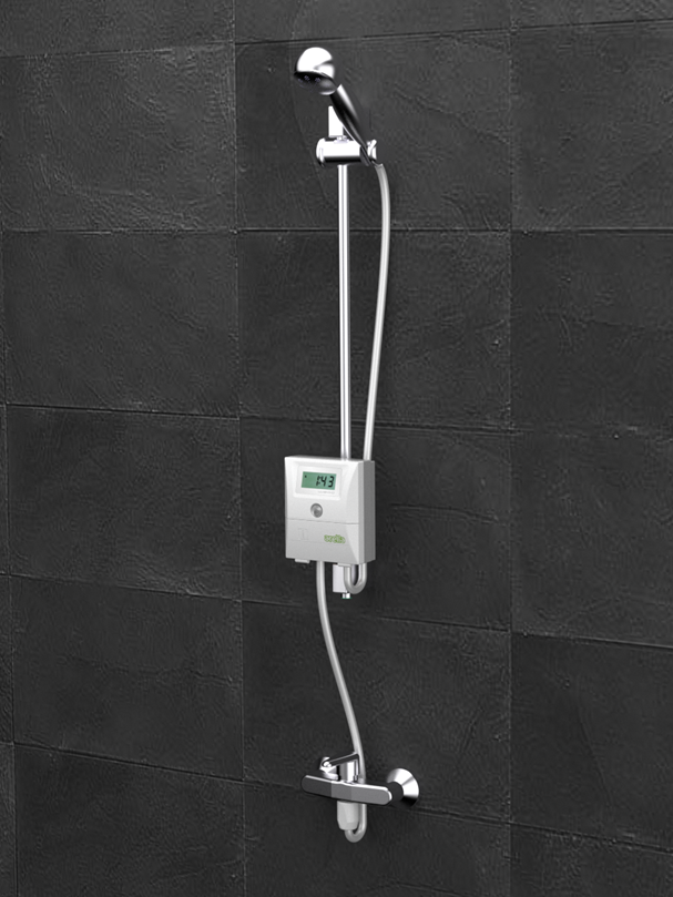 shower timer with shut off to avoid water and gas waste