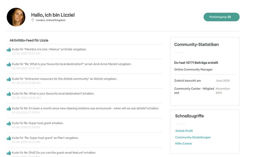 [Neu] Update: Community Center Profilseite