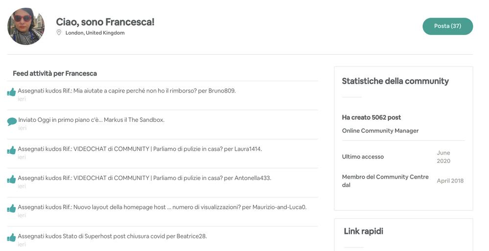 [Aggiornamento] Nuova pagina del profilo della community