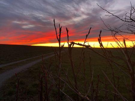Sonnenaufgang in unserer laendlichen Umgebung
