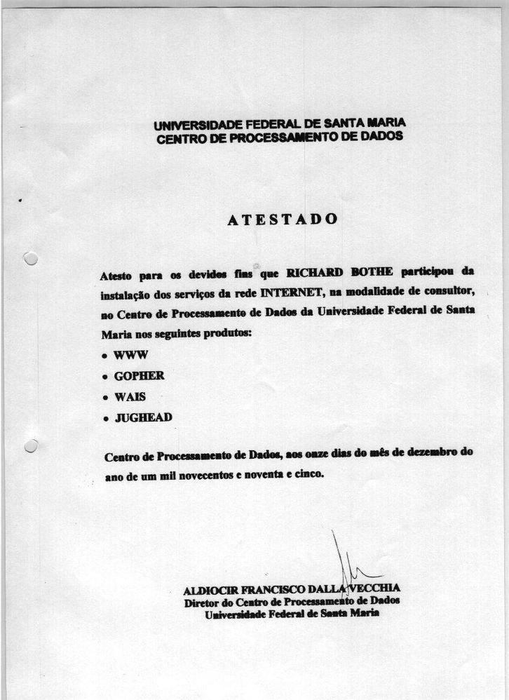 UFSM Zertifikat 1995
