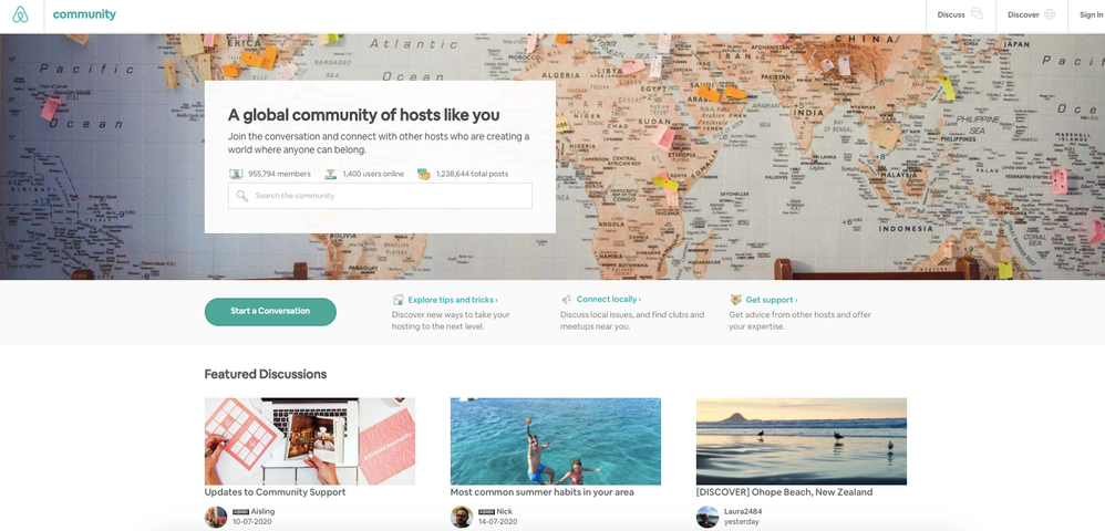 [Update] New layout on Community Center homepage