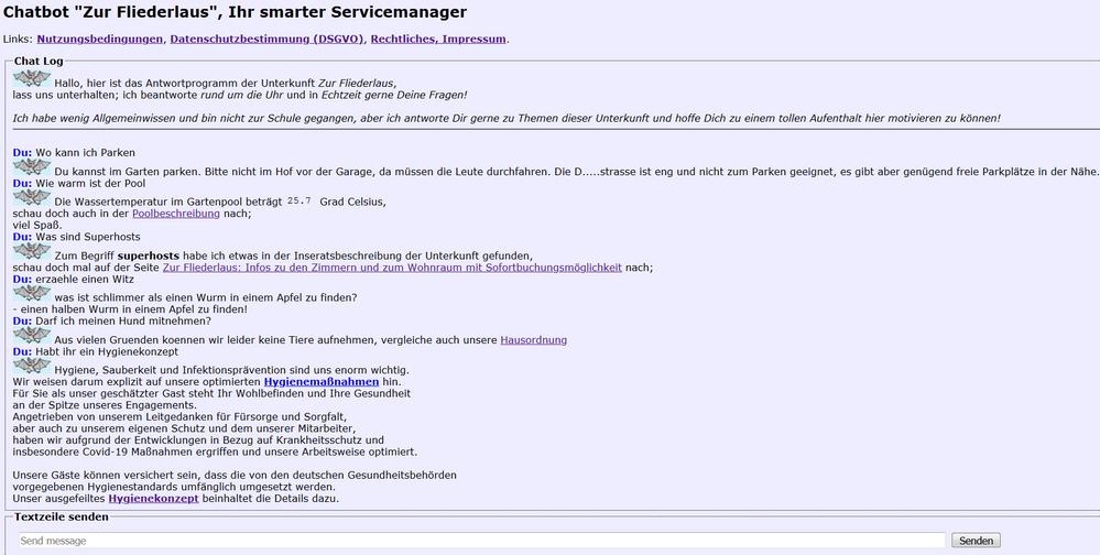 Chatbot Beispiel 1