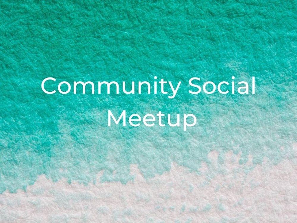 [Meetup] August 12th: Community social