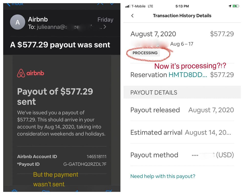 Although I was sent the email on Friday, Auguest 7th, I decided on Sunday the 9th to actually check and see if the payout had been issued.  It had not.