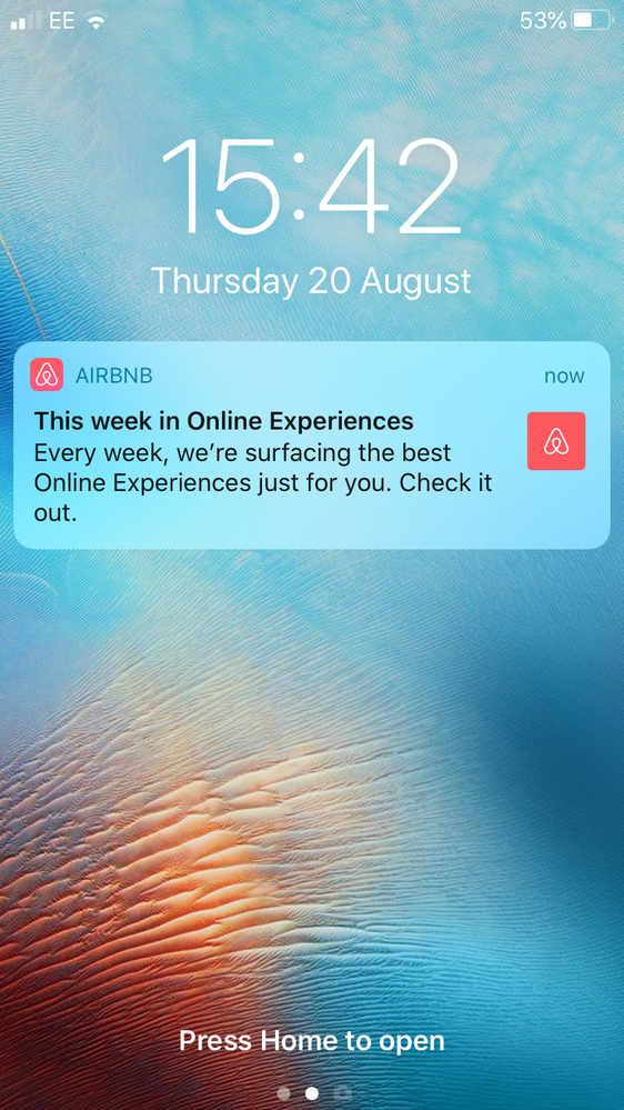 Airbnb App Notifications