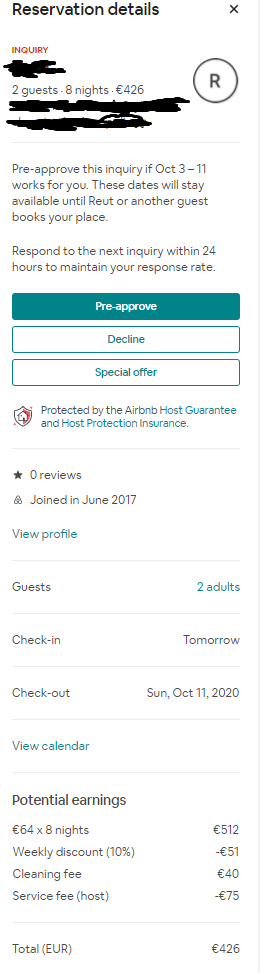Host fees about same booking request wrongly calculated by mobile app in comparison with the PC desktop browser