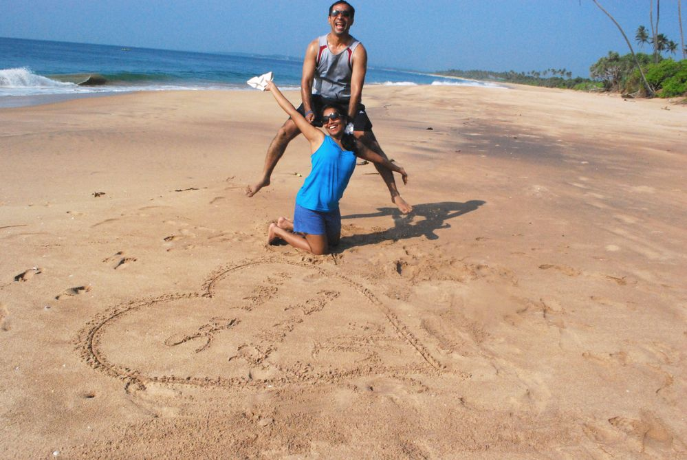 Being silly at Tangalle