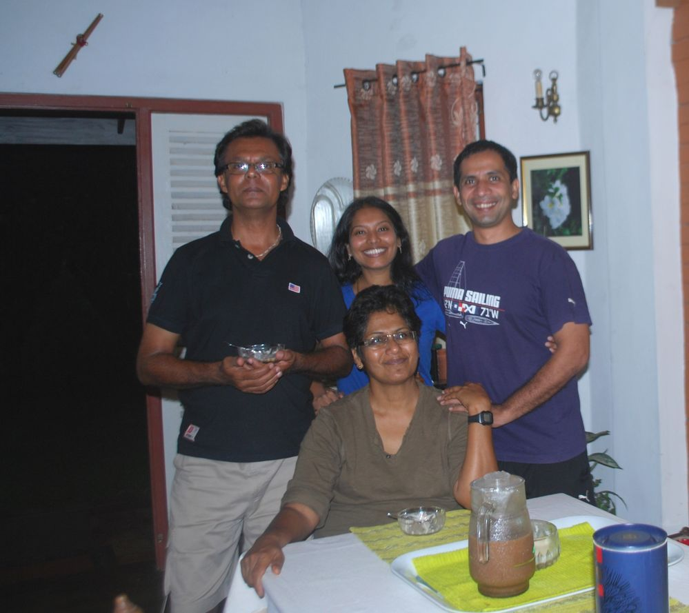Us with Roney and Sujatha in Kandy