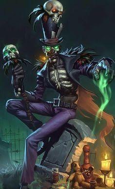 """ ei-menThe Warlock and his "" Voodoo doll """