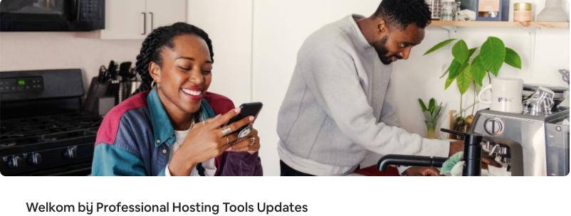 Introductie van de Professional Hosting Tools Updates discussieruimte