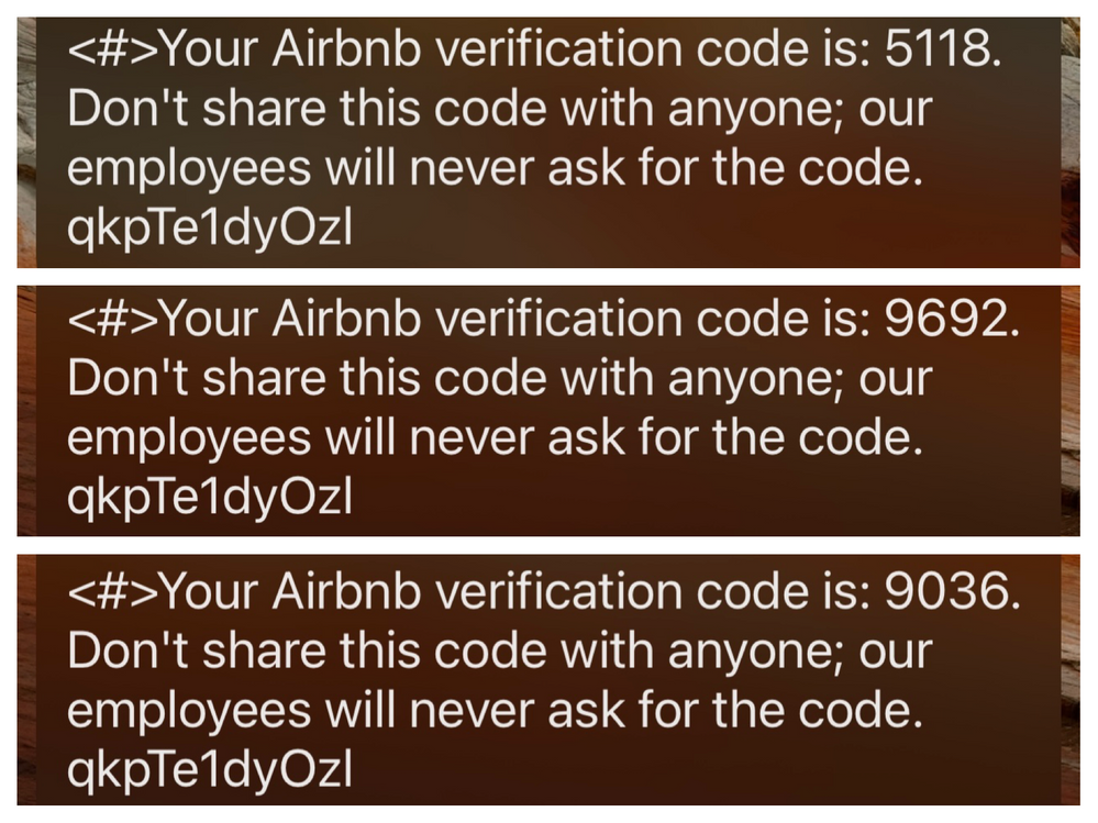 Airbnb Scam Text Message Warning (Smishing)
