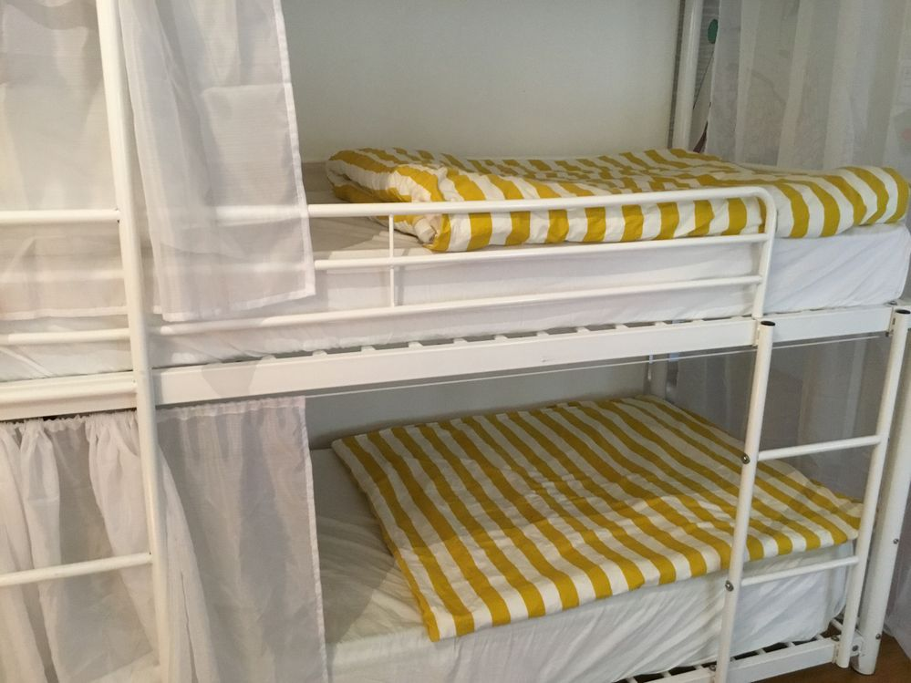 Female dormitory shared room with soft furnishings