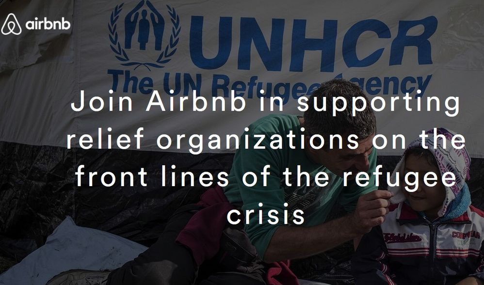 Join Airbnb in supporting relief organizations on the front lines of the refugee crisis