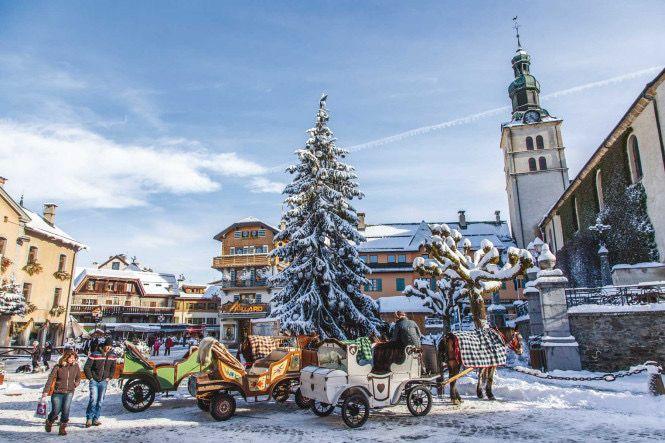 Megève is a ski resort ( Alps of southeastern France)