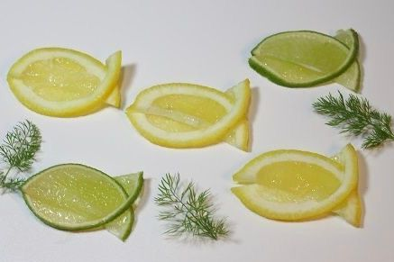 Lime and lemon garnish idea
