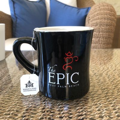 Branded mugs & cups/saucers with prices in our book reduce breakage and reinforce a quality experience.