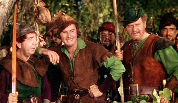 Errol Flynn as Robin Hood in the classic 1938 movie The Adventures of Robin Hood