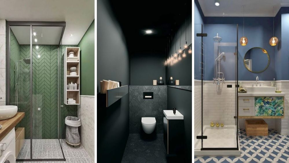Modern and practical  bathrooms  idea