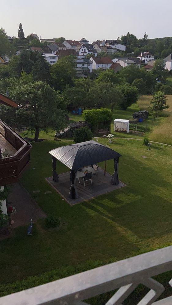 Blick auf die Umgebung aus der Airbnb-Unterkunft bei Eppelborn
