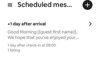 Scheduled messaging help