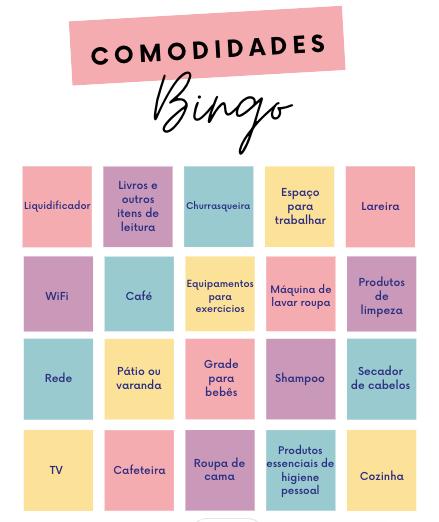 Bingo: Qual dessas comodidades você oferece em sua acomodação?